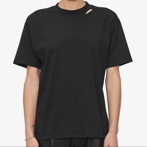 Anine Bing — Milo Tee in Black (Size XS)